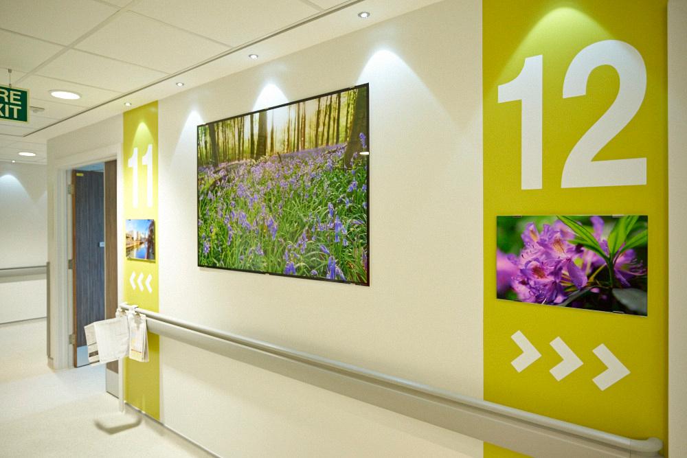 Salford Royal Hospital NHS, 2014, PhotoGlassWorks Front Lit