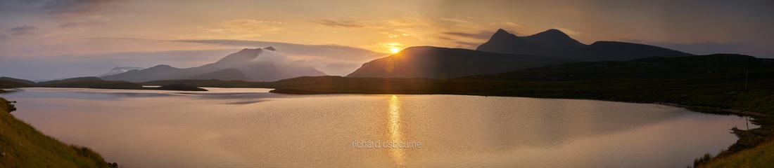 P4W2  Lochan an Ais, Ben More Coigach and Cul Beag, Coigach, Scotland, UK