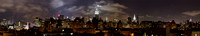 P2C13 Empire State Building and Manhattan at Night, New York, USA
