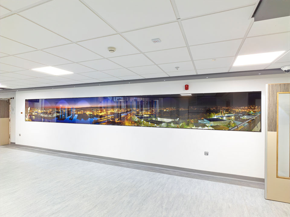 Salford Royal Hospital NHS, 2014, PhotoGlassWorks Front Lit