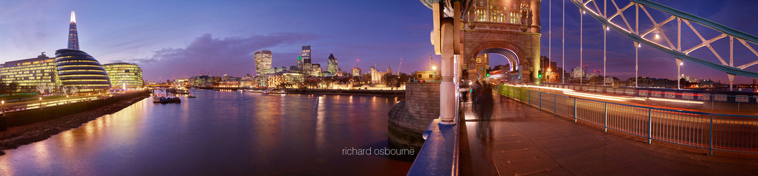 P4C39  Thames Evening - The Shard, City Hall, City of London and Tower of London, London, UK