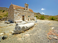 V8L18  6th Century Chapel, Asklepion, Lentas, Crete, Greece
