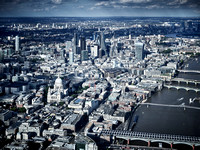 V11F18  Aerial View of The City of London, UK